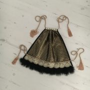 black-and-gold-net-feather-hem-top