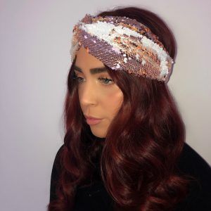 Rose Gold Sequin Turban Headband