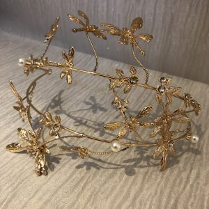 Gold Dragonfly Hairband